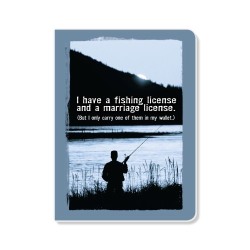 EcoEverywhere Fishing License Sketchbook, 160 Pages, 5.62...