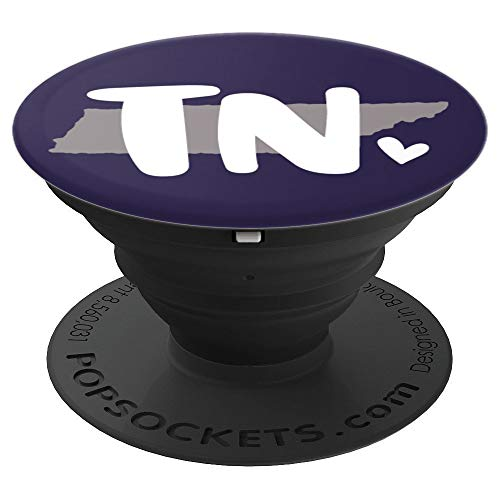 - TN Heart   State Outline   Tennessee Love - PopSockets Grip and Stand for Phones and Tablets