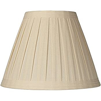 Creme linen box pleat lamp shade 7x14x11 spider lampshades creme linen box pleat lamp shade 7x14x11 spider mozeypictures Images