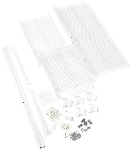 (Rubbermaid 3-to-5-Foot Expandable Wardrobe Organizer, White (3D1000WHT))