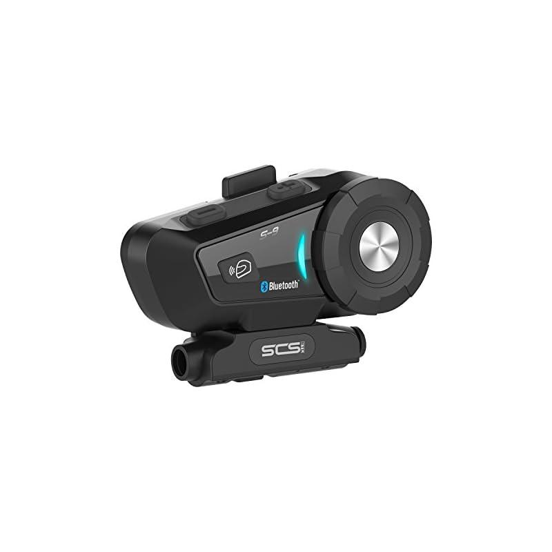 8fd5e2c9f327f3 Motorcycle Bluetooth 4.1 Helmet Headset - SCS ETC S-9 Intercom  Communication Systems Kit, Supports 6 Riders Group Intercom, Handsfree  Calls Voice Command ...