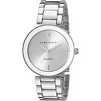 Anne Klein Women's Diamond Dial Silver-Tone Bracelet Watch