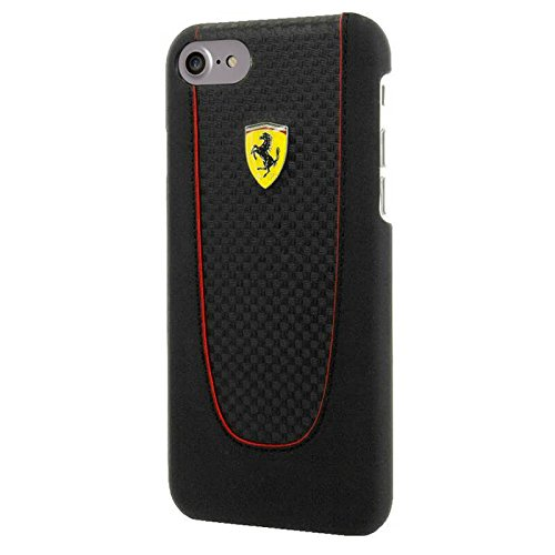 Price comparison product image Scuderia Ferrari PIT SHOP Carbon PU Hard Case for iPhone 7 (Black)