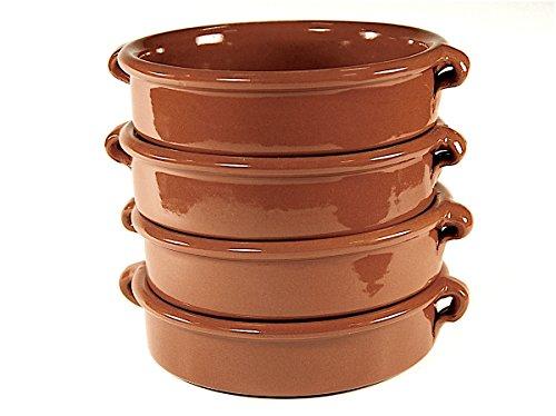 Terra Cotta Cazuelas, Round - 6 Inch (4 Dishes)
