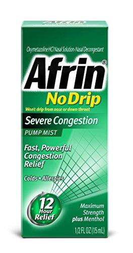 Afrin 12 Hour No-Drip Severe Congestion Pump Mist 20mL
