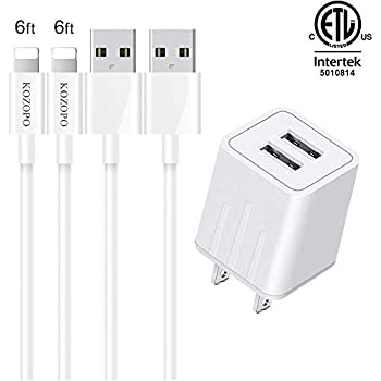 Amazon Com Iphone Chargers Pantom 2 Pack Wall Charger