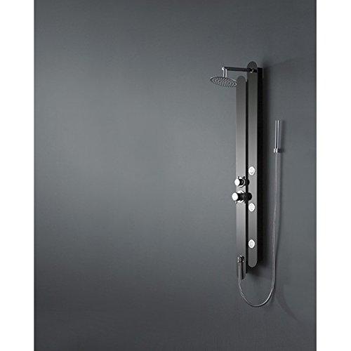 Sanlingo-Columna de ducha de acero inoxidable, color negro ...