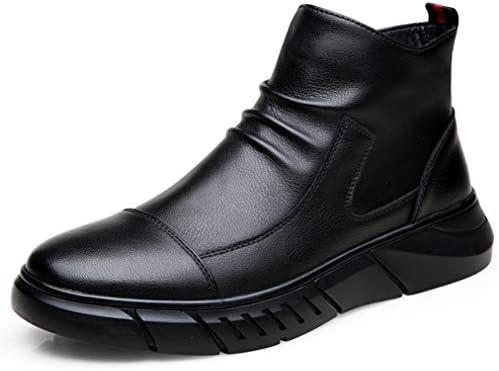 チェルシーシューズ おしゃれ 冬靴 スノーブーツ革靴 メンズ サイドジッパー カジュアル 安定感 プレゼント 裏起毛 ハイカット ハイキングくしゅくしゅ 復古 おしゃれ 秋靴 冬靴 レインブーツデザートブーツ