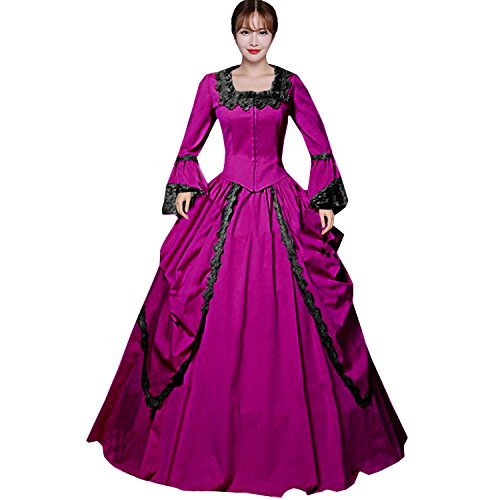 Victorian Red Dress - 2