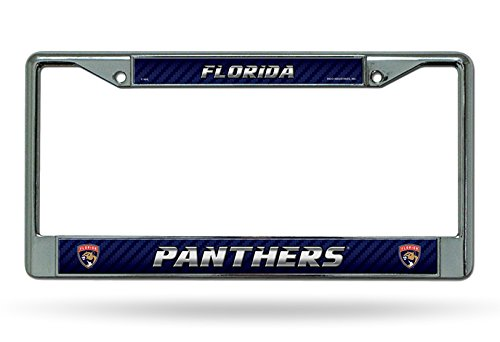 Florida Panthers LBL New Shield Logo Chrome Frame Metal License Plate Tag Cover Hockey