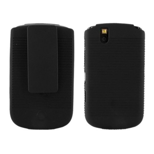 SUPERIOR BLACKBERRY 9630 9650 RUBBERIZED SHELL HOLSTER COMBO