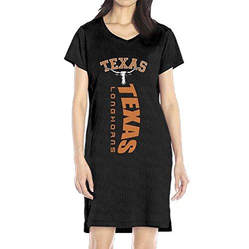 Hiphai Casual Women's University Of Texas Austin V-Neck Tshirt Dresses Black XL ()