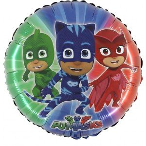 "24"" PJ Masks Round Colourful Foil Balloon - Birthday Party Supplies"