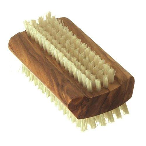 ハイドレアロンドンオリーブの木の純粋な毛ネイルブラシ、ハード強さ、大 x2 - Hydrea London Olive Wood Pure Bristle Nail Brush, Hard Strength, Large (Pack of 2) [並行輸入品] B0716DDCGL