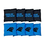 Victory Tailgate Carolina Panthers NFL Cornhole Game Bag Set (8 Bags Included, Corn-Filled)
