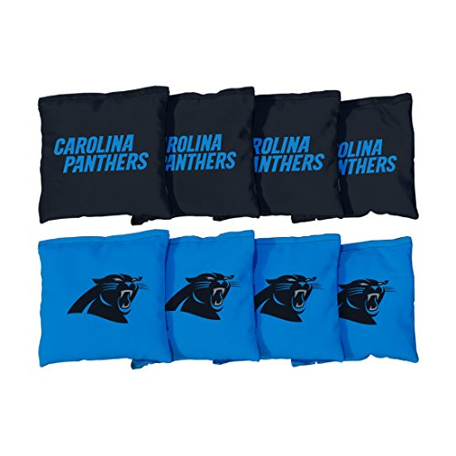 Victory Tailgate Carolina Panthers NFL Cornhole Game Bag Set (8 Bags Included, Corn-Filled)]()