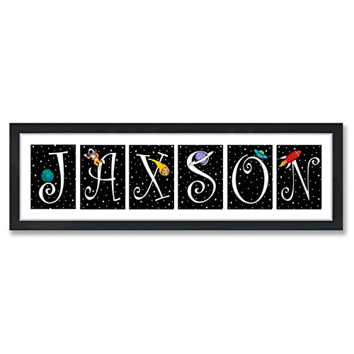 Jaxson's World 56 Outer Space Nursery Letters Prints -