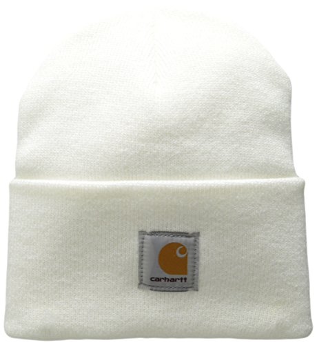 Carhartt Men's Acrylic Watch Hat A18, White, One Size