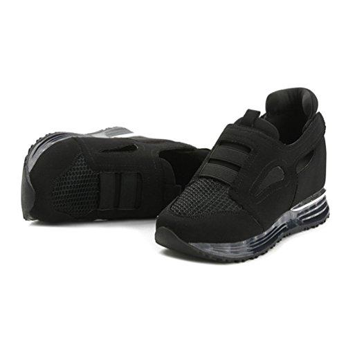 Chaussures Sandales Compensées Sneakers Loisir de Noir Filets Femmes Marche Confortable Running Sports rrxA4qW6