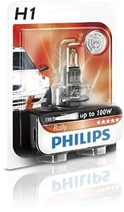 Philips 12454RAB1 Rally - Bombilla para faros delanteros (H1, 1 unidad)