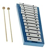 CUTICATE 15 Notes Xylophone Glockenspiel with Mallets Sticks Set for Children Music Enlightenment