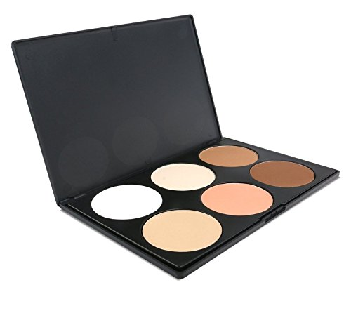 iMeasy Makeup Contour Kit Highlight and Bronzing Powder Palette - 6 Color (Skin Bronzing Powder)