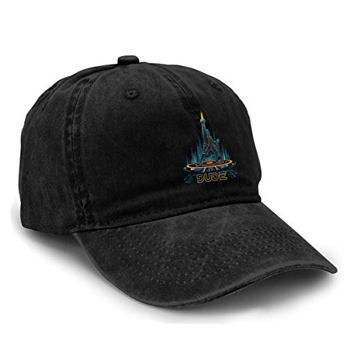 Yuliang The Bounty Hunter Unisex Adult Adjustable Snapback Cowboy Hat Black