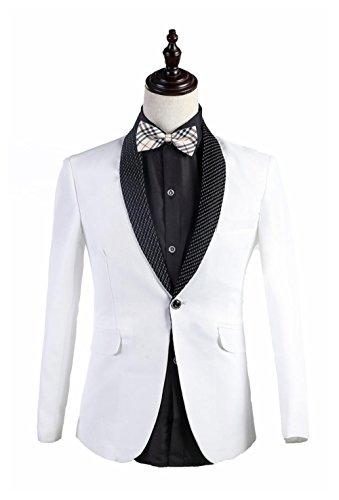 2016 new White Korea style mens singer bar suit wedding d...