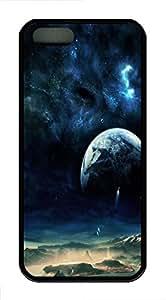iPhone 5 5S Case Space Fantasy TPU Custom iPhone 5 5S Case Cover Black
