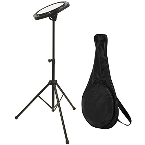 (On-Stage DFP5500 Drum Practice Pad with Stand & Bag)