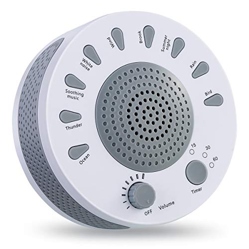 White Noise Machine, Eurobuy Sleep Helper Sound Relaxation Machine with 9 Unique Natural Sounds,Noise Sleep Helper Canceling for Baby Pacifying,Light Sleeper,Insomnia,Spa,Yoga,Noise Pollution