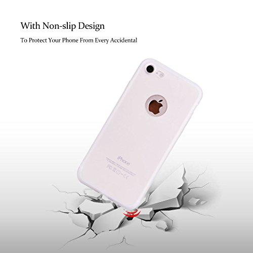 AllDo Coque pour iPhone 8, Etui TPU Silicone Housse Souple de Protection Coque Mince Léger Slim Soft Case Cover Bumper Étui Gel Flexible Coque Couleur Solide Housse de Conception Simple Couverture Ant