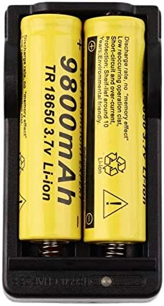 anyilon 4 PCS 18650 Battery 3.7V 9800mAh Rechargeable Li-ion Battery with Charger