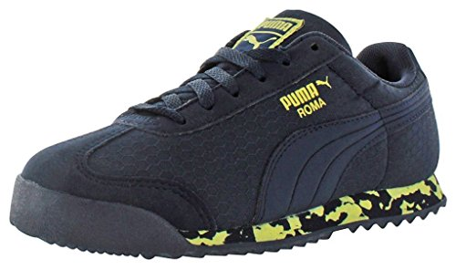 PUMA Kids' Roma MS Print Inf-K, Peacoat/Limelight, 5 M US Toddler by PUMA (Image #2)