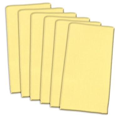 DII 100% Cotton, Oversized Basic Everyday 20x 20  Napkin, Set of 6, Yellow