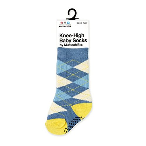 Mustachifier Knee-High Argyle Baby Socks - (Mix Match Jordans)