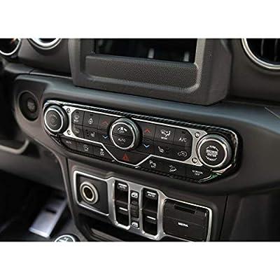 RT-TCZ Carbon Fiber Center Control Air Conditioner Switch Cover Trim Frame for 2020-2020 Jeep Wrangler JL JLU: Automotive
