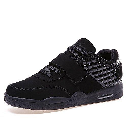 Resonda 2017 Unisex Uomo Donna Moda Cerchietto Piatto E Look Sportivo Atletico Basket Da Corsa Sneaker Scarpe Da Skate Nero