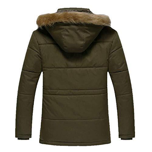 Lungo Velluto Più Black In Caldo Cotone Grandi Dimensioni Casual Di Da Cappotto Camicia Uomo Spesso Medio A8gO8Z