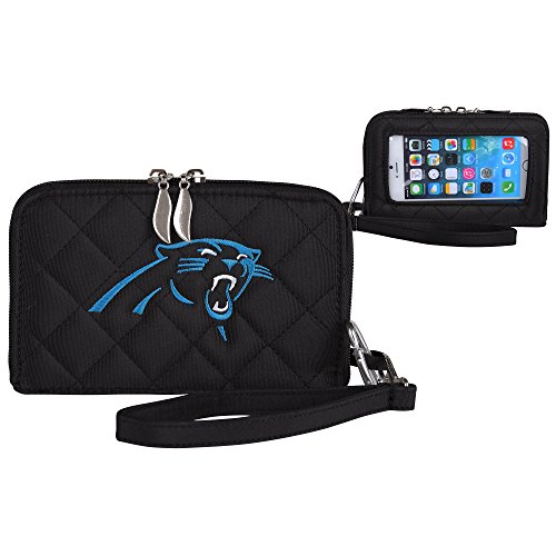 - NFL Carolina Panthers Womens Quilted Cell Phone Wallet with Embroidered Logo by Little Earth
