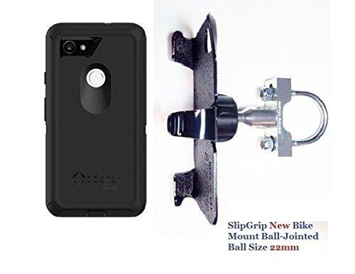SlipGrip Uボルトバイクホルダーfor Google Pixel 2 XL電話使用OtterBox Defender Screenlessケース   B076MR4K11