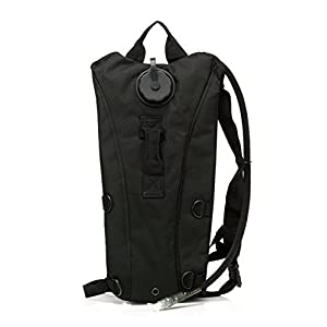 US Army 3L 3 Liter (100 ounce) Hydration Pack Bladder Water Bag Pouch Backpack Hiking Climbing Survival Outdoor (Black)