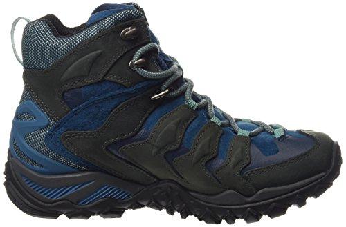 Merrell Cham Shift Mid Gtx - High Rise Hiking de cuero mujer gris - gris (Granite)