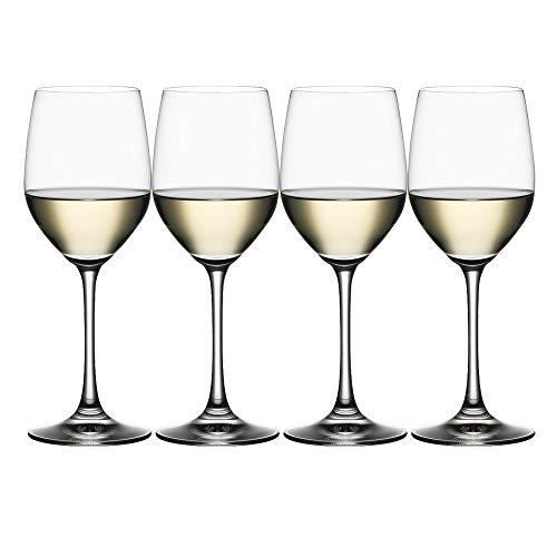 Wine Red Spiegelau Glass - Spiegelau 4510272 Vino Grande White Wine Glasses (Set of 4), Clear