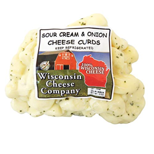 Wisconsin Cheese Company Famous Sour Cream Cheese Curds 1.5lbs (2ct-12oz. packs)