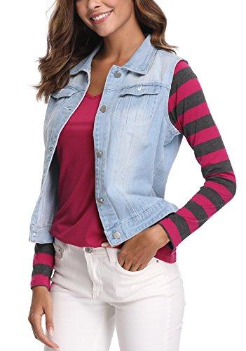 Sleeveless Waistcoat Buttoned Gilet Moly Blue Vest Miss Washed Women's Denim Medium Jeans nOYax8wqH