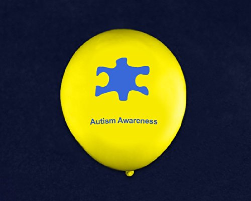 Fundraising For A Cause 50 Autism Awareness Latex Balloons 1 Pack - 50 Balloons