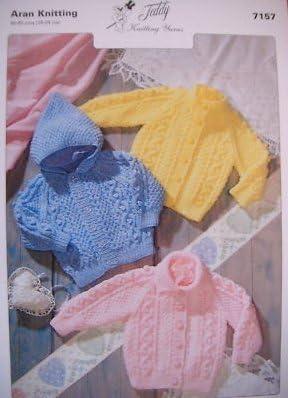 Teddy Aran Knitting Pattern Childrens Cardigans 7216