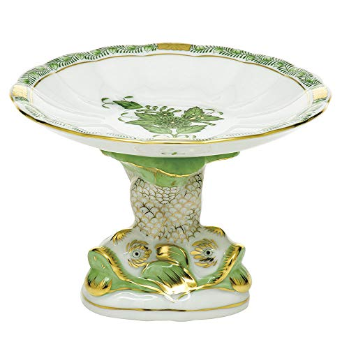 Herend Porcelain China Shell with Dolphin Stand Chinese Bouquet - Dolphin Herend