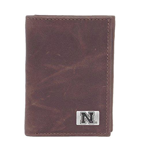 Eagles Wings NCAA Nebraska Cornhuskers Men's Tri Fold Wallet, One Size, Brown